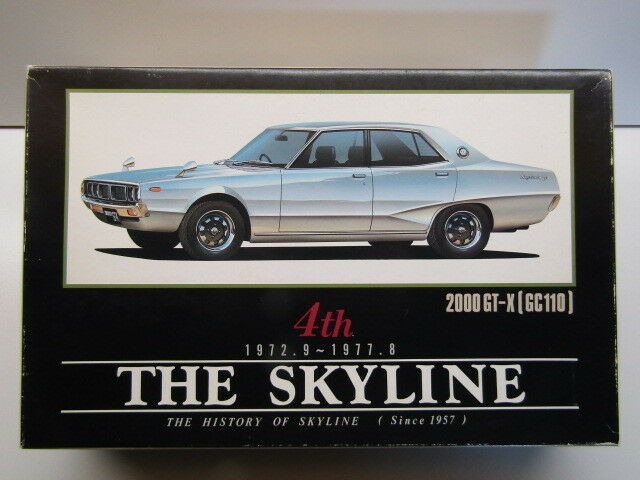 Aoshima 1 24 Scale  The History of Skyline  GT-X GC110 Model Kit - New