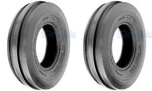 TWO-5-00-15-5-00X15-500-15-Tri-Rib-3-Rib-Tubeless-Tires-Heavy-Duty-6-ply-Rated