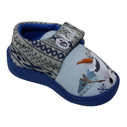Disney Girl/'s Boy/'s Frozen Olaf Elsa Anna Bootie Slipper Sizes Infant 4-12