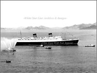 Photo: Rare View: RMS Queen Elizabeth In Hong Kong Harbor, July, 1971