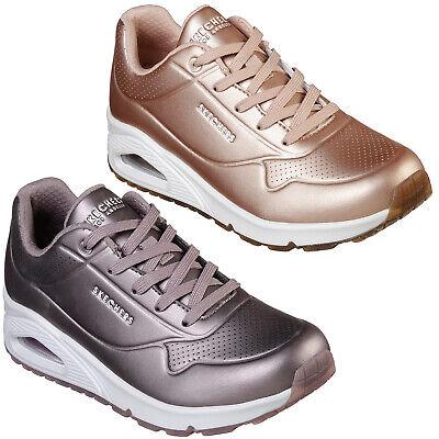Skechers Uno Rose Gras Baskets 73691 Femme Classique rue métallique Chaussures | eBay