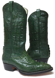 98d95e0b9a7 Details about Mens Green Full Alligator Crocodile Leather Exotic Western  Cowboy Boots Size 6