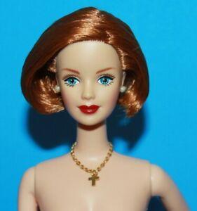 BARBIE-TITIAN-Short-FLIP-Hair-SIDE-PART-NUDE-Doll-Twist-at-Waist-wCross-Necklace
