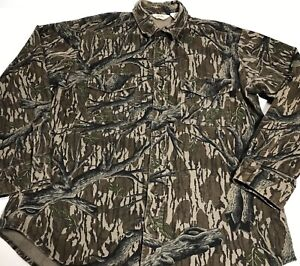 Vintage Mossy Oak Cabelas Chamois Shirt Men S Size Xl Tall