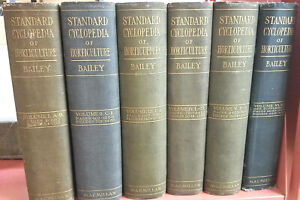 Standard-Cyclopedia-of-Horticulture-by-L-H-Bailey-1914-Set-of-6-Complete