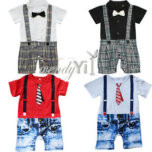 Kids-Baby-Boy-One-Piece-Gentleman-Romper-Jumpsuit-Outfit-Clothes-Outfit-Set