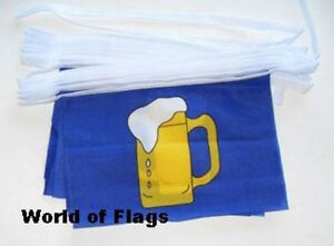 BEER FLAG 3X2 party pub barbecue festival flags fun