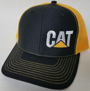 ee68766ab Details about CAT Caterpillar Hvy. Machinery Richardson Trucker Mesh  Snapback 112 Baseball Hat