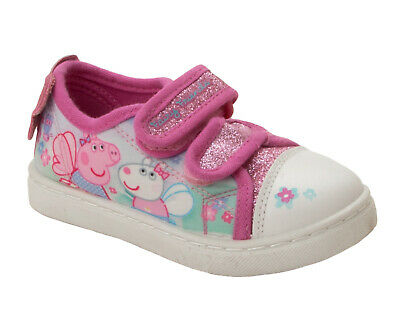 Peppa Pig Girls Glitter Pink Low Top Slippers UK Sizes Child