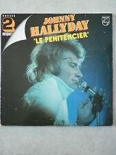 """Johnny Hallyday double 33Tours vinyles Succès """"Le Pénitencier"""""""