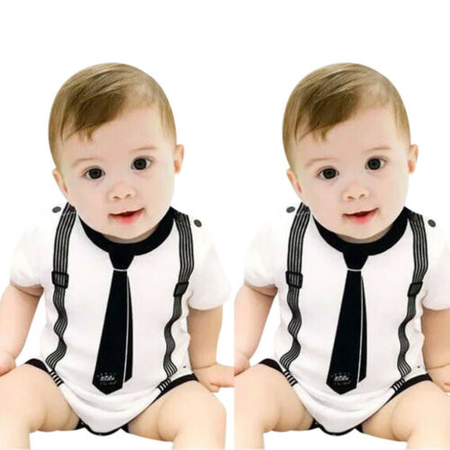 Infant Kids Baby Boy Romper Playsuit Daily Party Gentle Jumpsuit Bodysuit Outfit