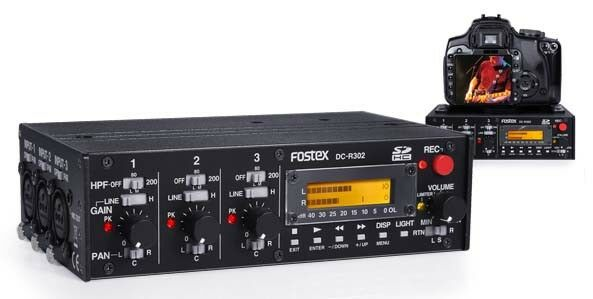 Fostex DCR-302  3-in-2-Audiorecorder für DSLR-Videos