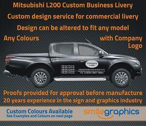 mitsubishi l200 custom business livery including company logos - any