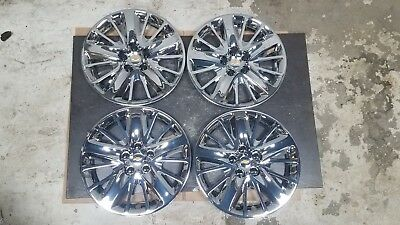 """Set of 4 Brand New 2014 14 2015 15 Impala 18/"""" Hubcaps Wheel Covers 3299"""