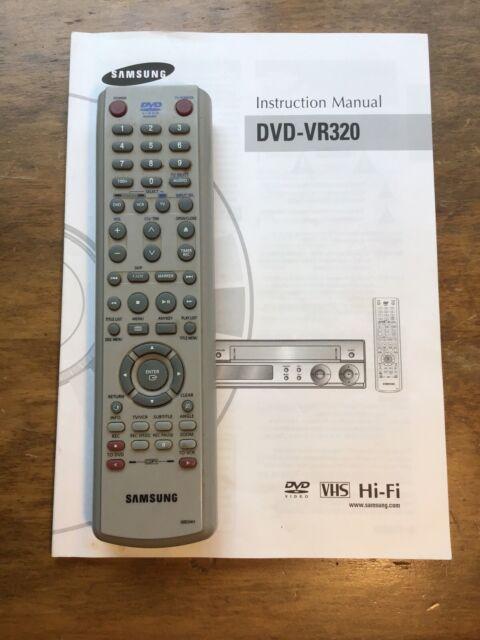 SAMSUNG DVD-VR320 INSTRUCTION MANUAL Pdf Download | ManualsLib