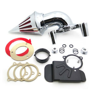 Spike-Air-Cleaner-Kit-filter-Chrome-For-2008-2012-Harley-Dyna-Touring-Road-King