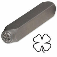 Steel Stamp Punch For Beading & Jewelry Making (4 Leaf Clover)