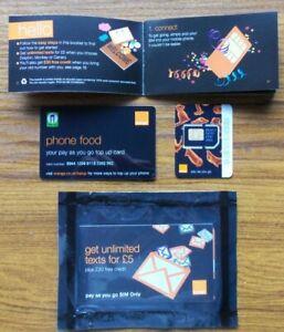 2 G 3 G Orange Uk Pay As You Go Sim Card Portage, Vieux Type, Neuf, Scellé-afficher Le Titre D'origine
