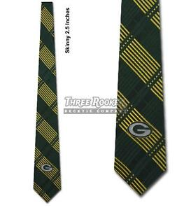 Silk Packers Tie Mens Officially Licensed Neck Ties Green Bay Packers Neckties N
