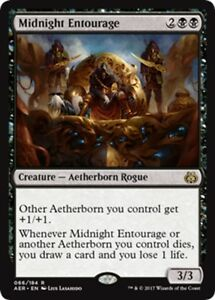 MTG-Magic-R-Aether-Revolt-Midnight-Entourage-FOIL-NM