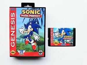 Sonic the Hedgehog Pixel Perfect Sega Genesis (Game / Case) Fan Made Mod (USA)