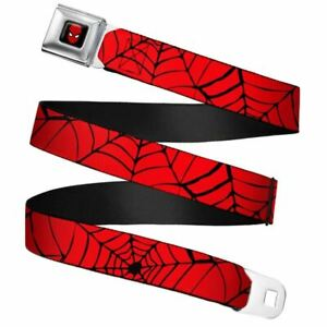 Marvel-Comics-Spider-Man-Spiderweb-Seatbelt-Buckle-Belt
