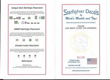 STARFIGHTER DECALS 1//700 USS Nimitz Class CVN68 for TSM  SFA700100-W