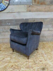 Alexander-James-Percy-arm-chair-grey-asphalt-velvet-vintage-cocktail-fluted