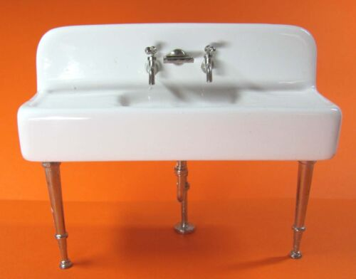 1:12 miniatura decorativo cerámica de cocina fregadero