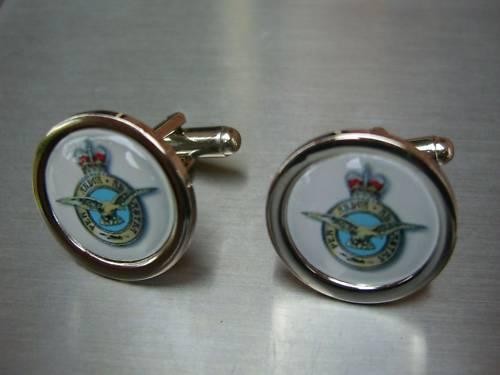 RAF ROYAL AIR FORCE NEW CHROME FINISH CUFFLINKS