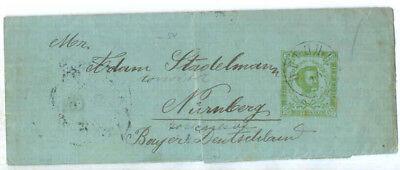 1894 Fürstentum Montenegro Zeitungsstreifband S3 Cetinje > Nürnberg , Bedarf !!!