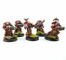 WARHAMMER 40K ARMY SPACE MARINE BLOOD ANGELS STERNGUARD SQUAD  PAINTED