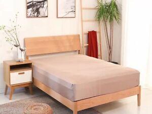 100 Organic Bamboo Bed Sheet Set Single Double Queen