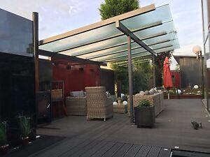 7x3 5m berdachung alu anthrazit terrassen garten carport terrassendach vordach ebay. Black Bedroom Furniture Sets. Home Design Ideas