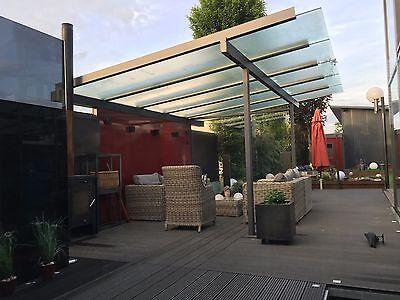 Fassade Alu,anthrazit,terrassen,garten,carport,terrassendach,vordach Verkaufspreis Baustoffe & Holz 7x3,5m Überdachung