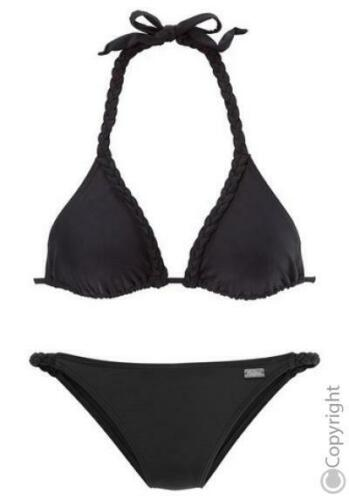 Buffalo Triangel-Bikini schwarz Gr 38 Cup A Neu