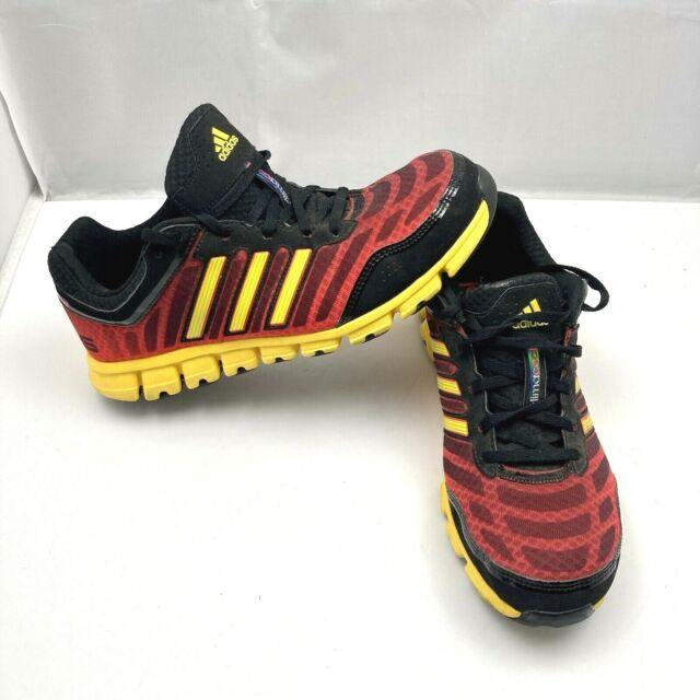 Adidas Climacool Aerate 2 Athletic Running Shoes Black Yellow Red Mens Size 9