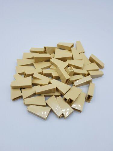 4129996  *NEUF* LEGO LOT 50 X ROOF TILE 1X2X3 73° TAN REF 4460