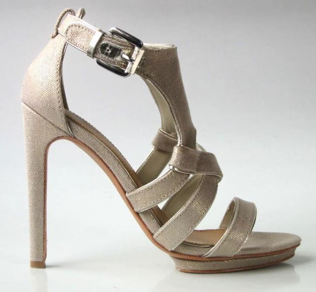 New MARK & JAMES by BADGLEY MISCHKA strappy shoes heels - SHIMMERING NUDE