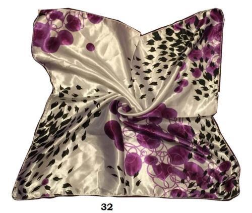 Vintage femmes élégantes soie carré tête//cou écharpe divers styles vol atten