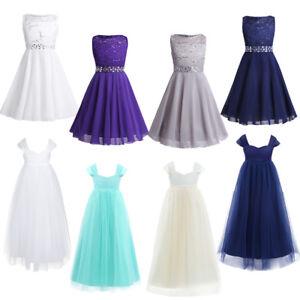 Flower-Girls-Formal-Dress-Wedding-Bridesmaid-Princess-Prom-Birthday-Party-Dress