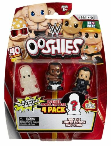 Ooshies WWE de Catch Figures fendue Toppers 4 PACK-SERIES 1