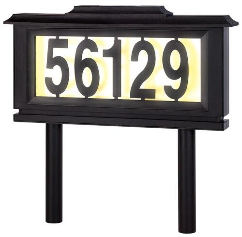 Solar adresse Sign lighted maison numéro adresse Plaque Outdoor DEL Light sign