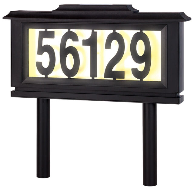 House Number Address Plaque Outdoor Led