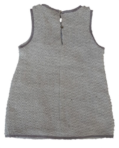 ZARA Baby Girls GREY Weave Tunic 1960s Mini Pinafore Dress 6-36m £17.99