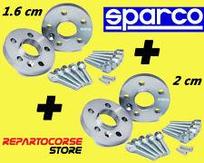 DISTANZIALI SPARCO 16 + 20 mm FIAT 500 ABARTH 695 180cv TRIBUTO FERRARI