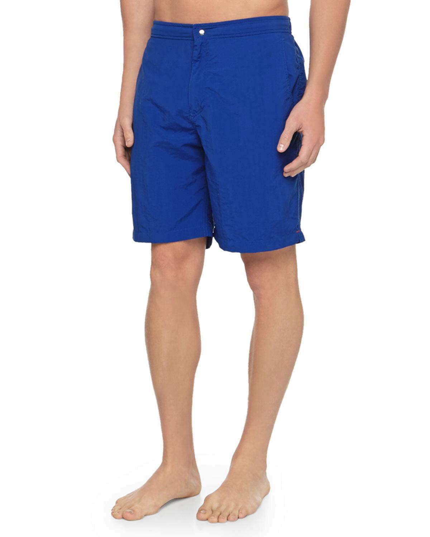 PETER MILLAR Zip Fly Swim Shorts Trunks in bluee Sz.L 36-37  NWT