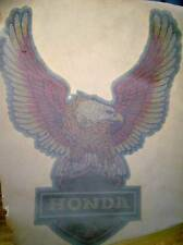 NOS Vintage Iron On Heat Transfer 70s Honda Motorcycle GLITTER T Shirt Design