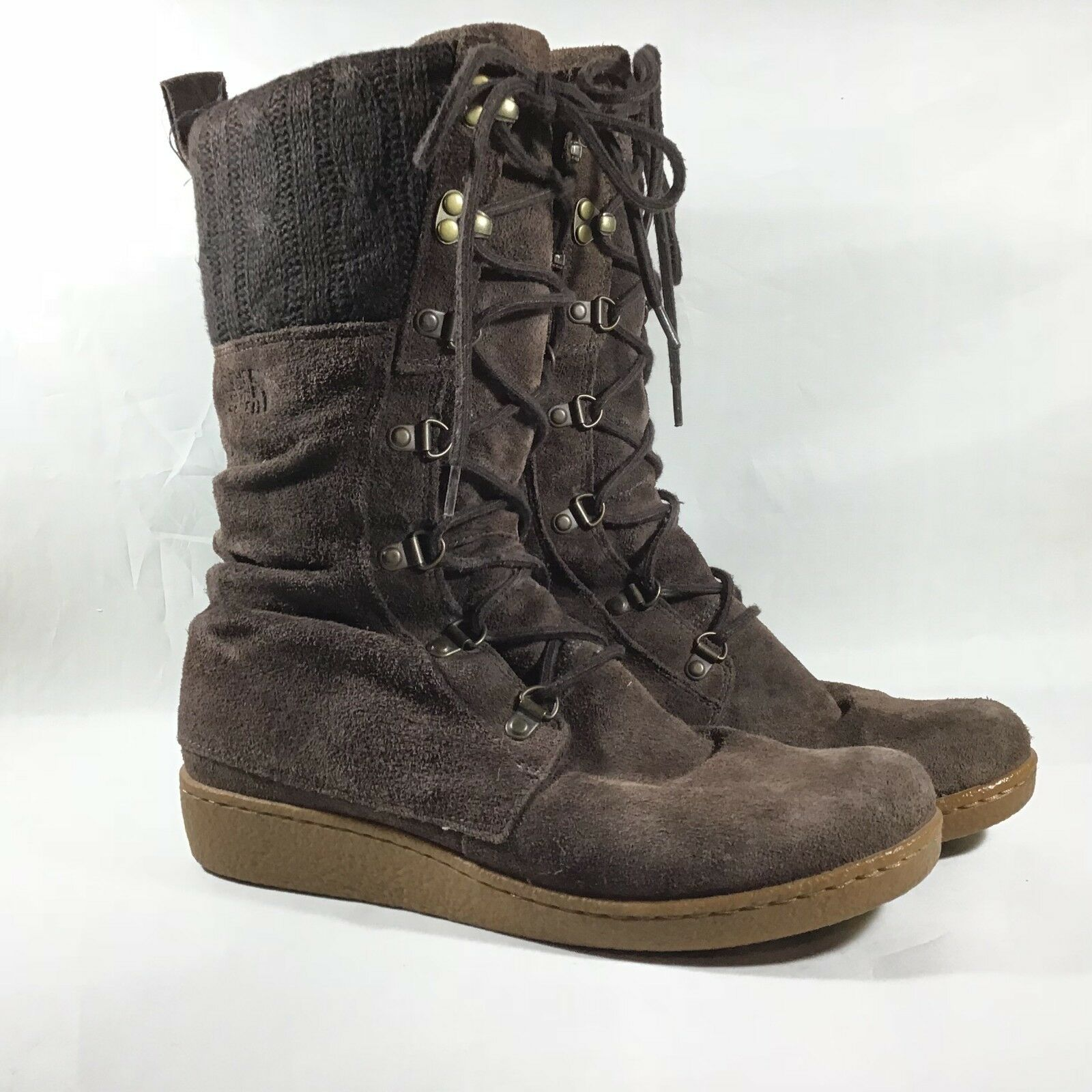 The North Face Alycia Boots Insulated 200 gm Primaloft Brown Size 8.5