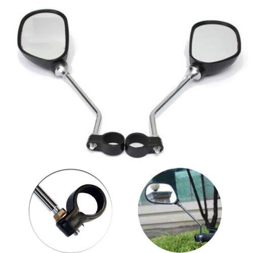 1Pair Bicycle Handlebar Rear View Glass Mirror Wide Range Back Sight Reflector